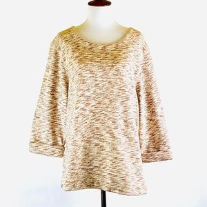 Coldwater Creek Mocha Mix casual cotton top